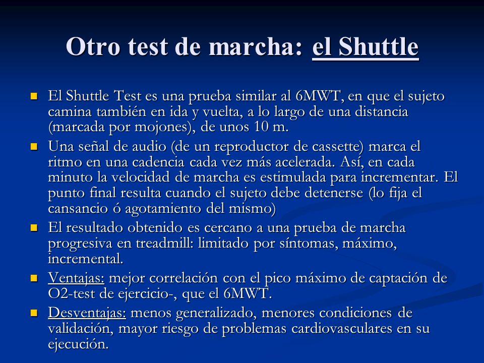 Otro test de marcha: el Shuttle