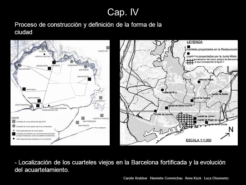 Cap. IV Proceso de construcción y definición de la forma de la ciudad