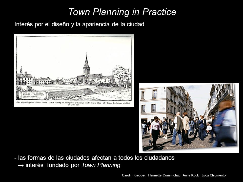 Town Planning in Practice