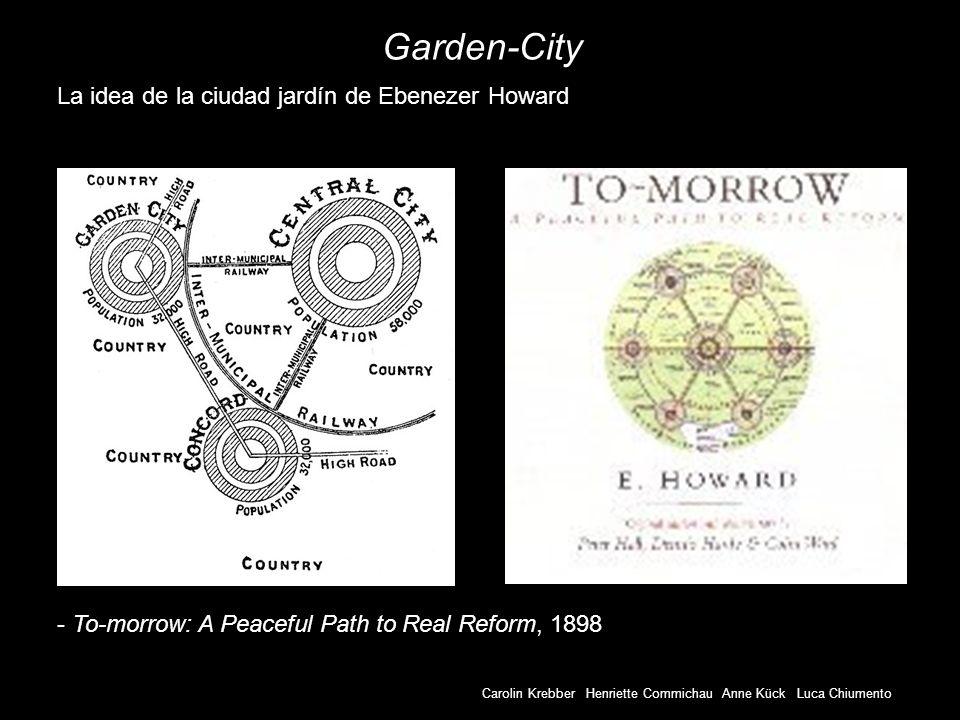 Garden-City La idea de la ciudad jardín de Ebenezer Howard