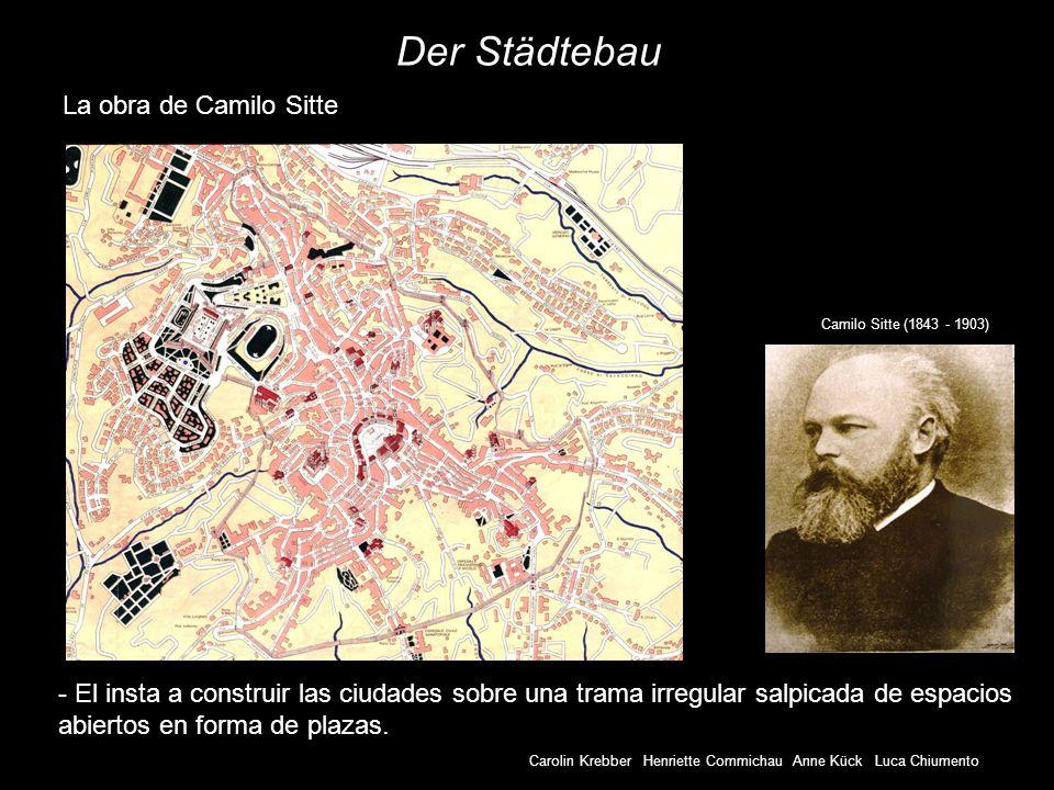 Der Städtebau La obra de Camilo Sitte