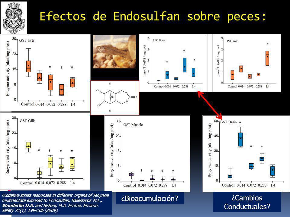 Efectos de Endosulfan sobre peces: