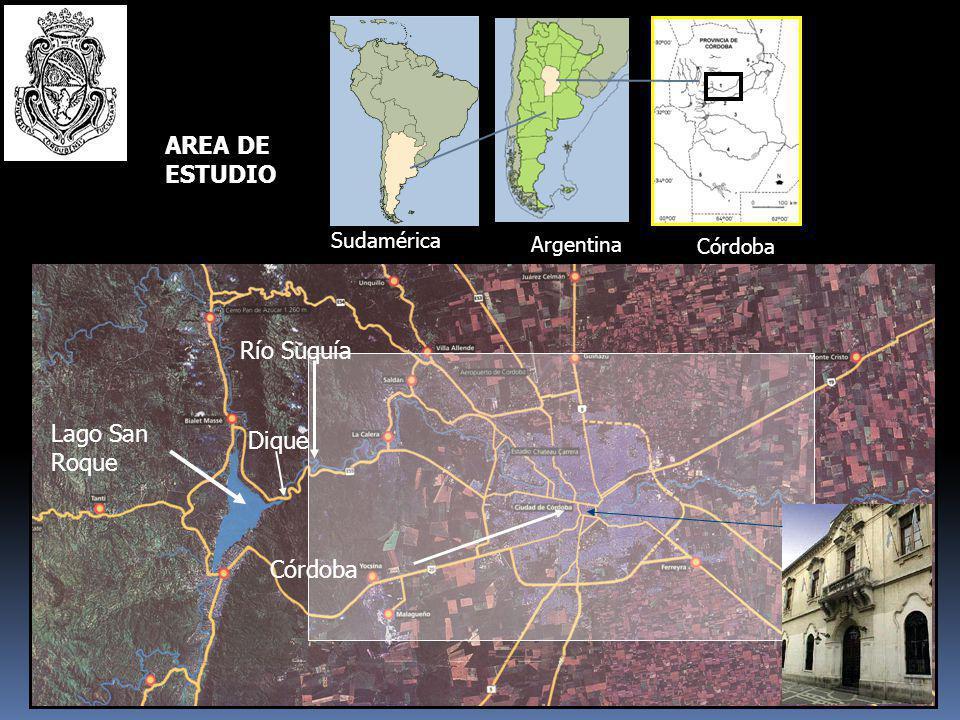 AREA DE ESTUDIO Río Suquía Lago San Roque Dique Córdoba Sudamérica