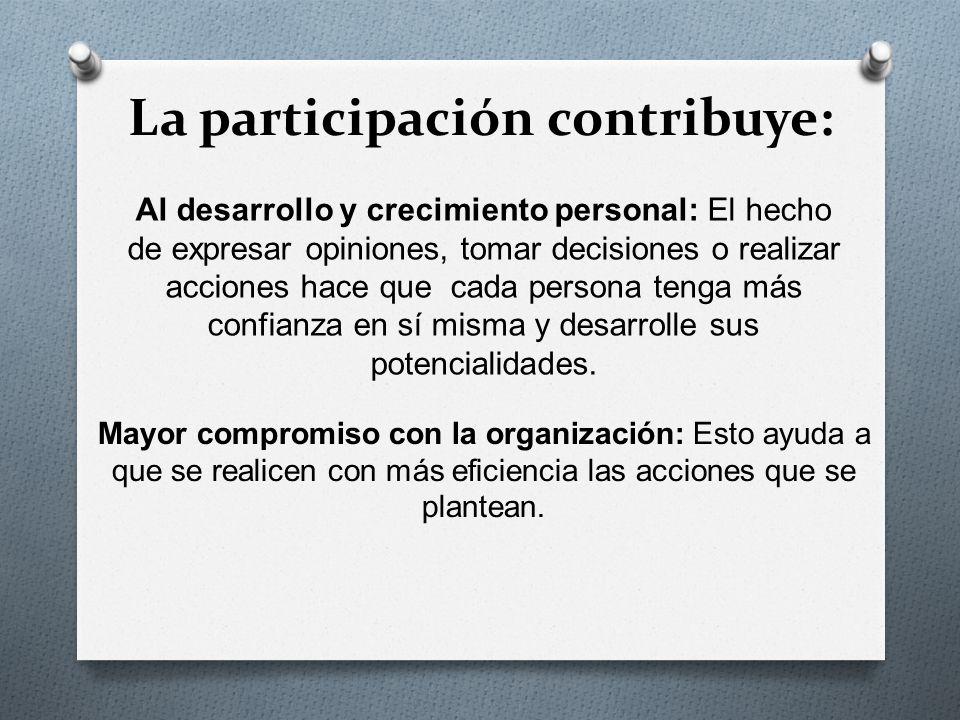 La participación contribuye:
