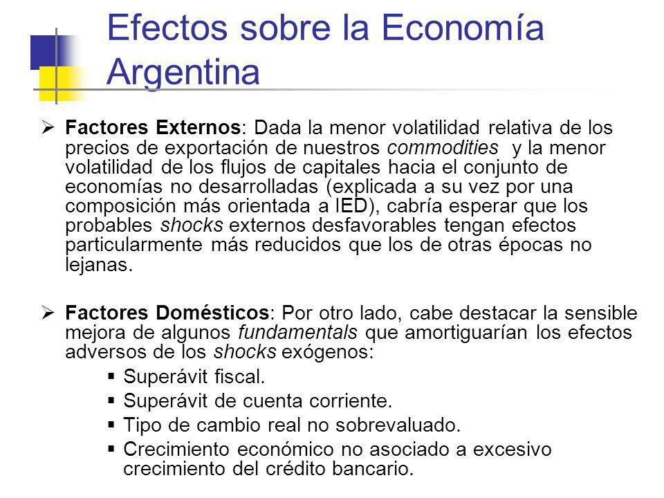 Efectos sobre la Economía Argentina