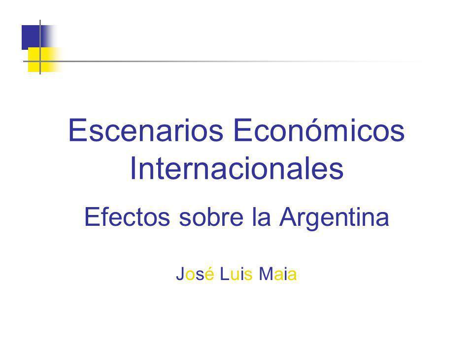 Escenarios Económicos Internacionales