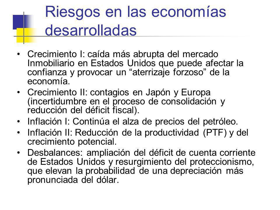 Riesgos en las economías desarrolladas