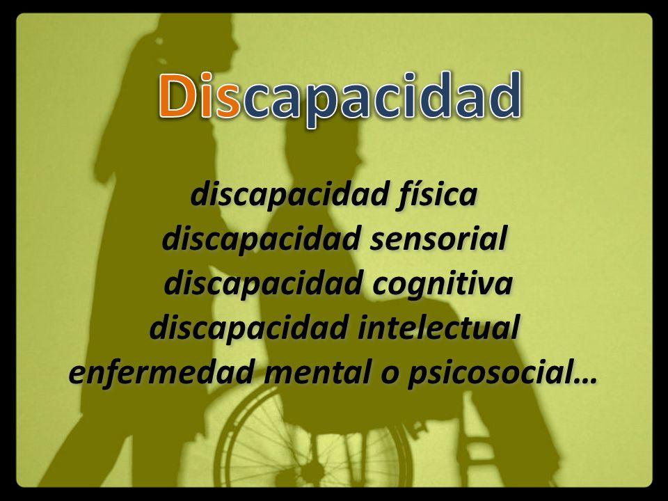 Discapacidad discapacidad física discapacidad sensorial