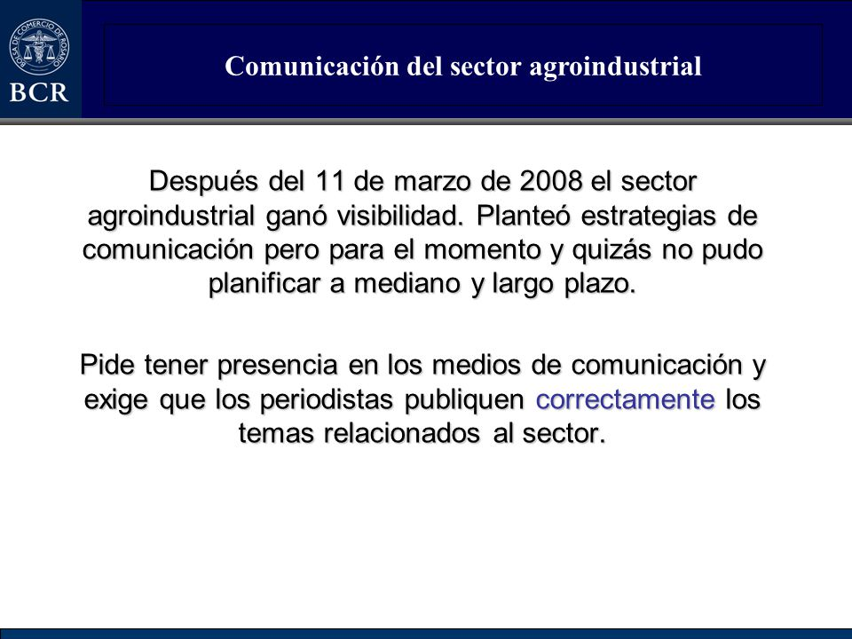 Comunicación del sector agroindustrial