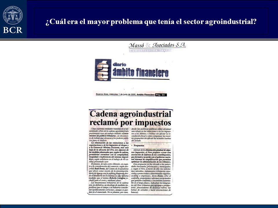 ¿Cuál era el mayor problema que tenía el sector agroindustrial