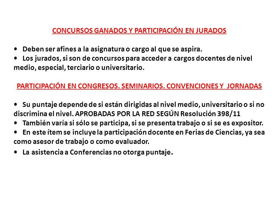 CONCURSOS GANADOS Y PARTICIPACIÓN EN JURADOS