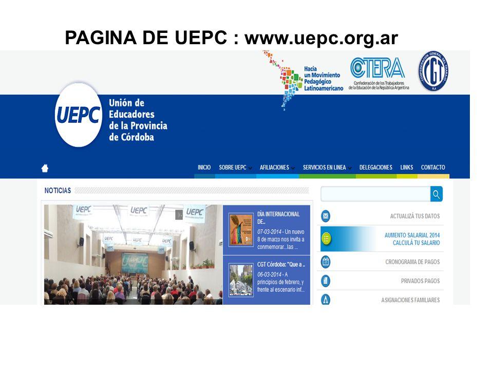 PAGINA DE UEPC : www.uepc.org.ar