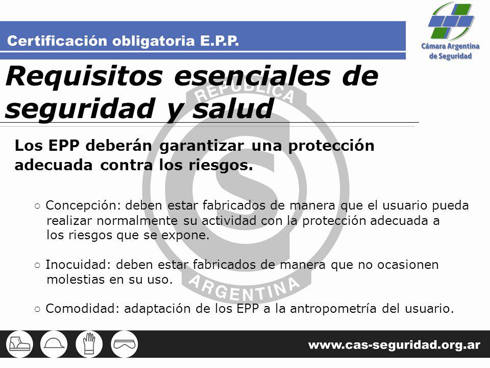 Requisitos esenciales de seguridad y salud