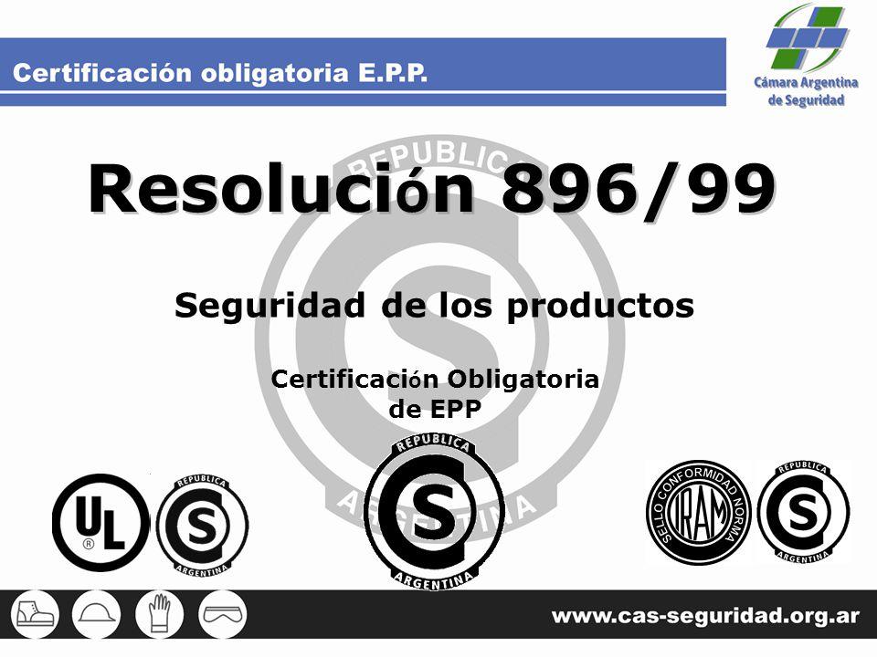 Seguridad de los productos Certificación Obligatoria