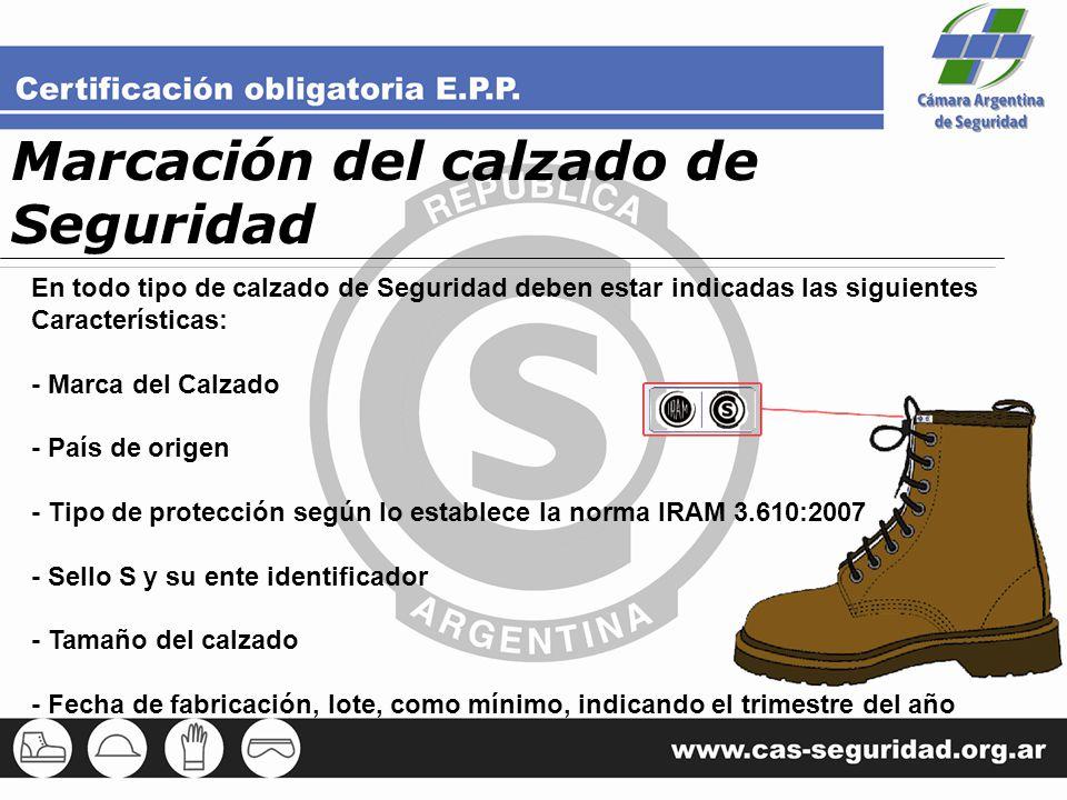 Marcación del calzado de Seguridad