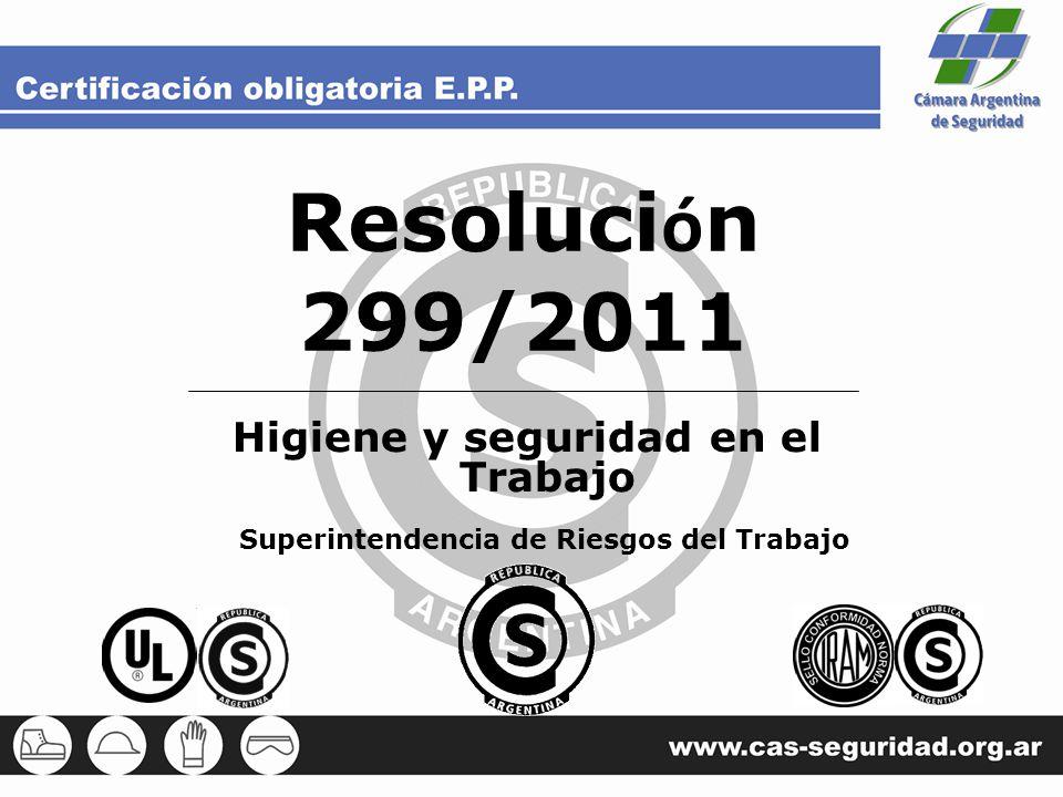 Resolución 299/2011 Higiene y seguridad en el Trabajo