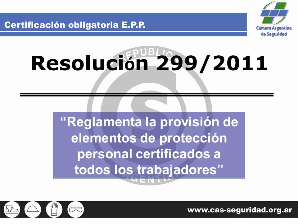 Resolución 299/2011 Reglamenta la provisión de