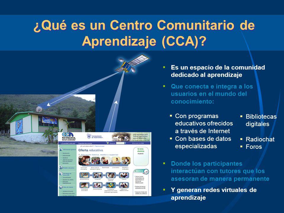 ¿Qué es un Centro Comunitario de Aprendizaje (CCA)