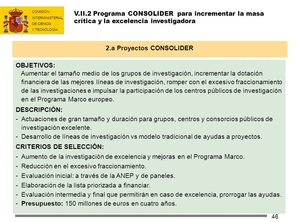 2.a Proyectos CONSOLIDER