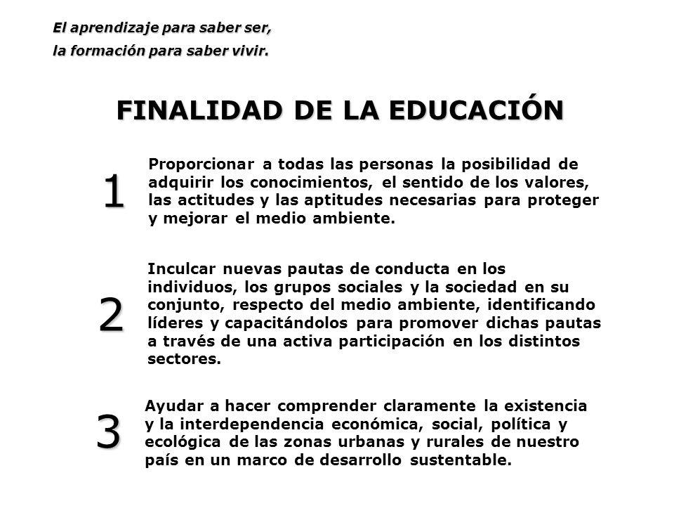 FINALIDAD DE LA EDUCACIÓN