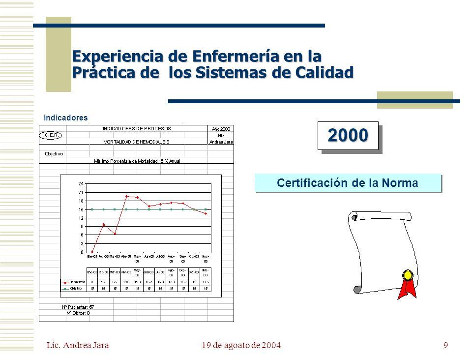 Certificación de la Norma