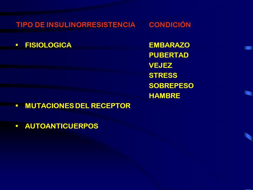 TIPO DE INSULINORRESISTENCIA