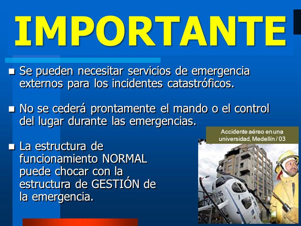 Accidente aéreo en una universidad, Medellín / 03