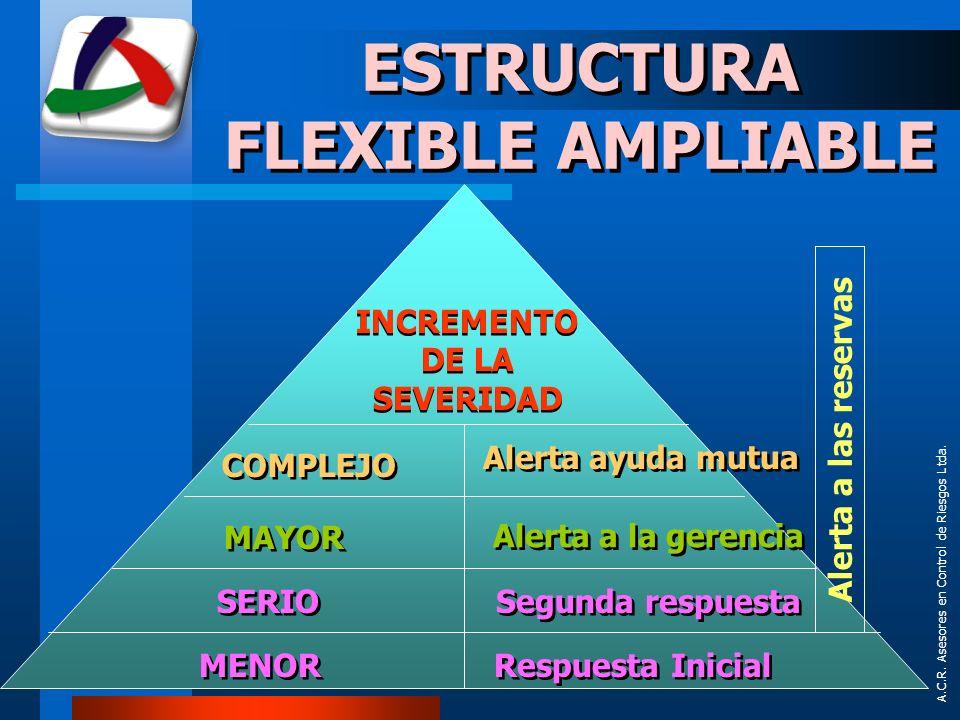ESTRUCTURA FLEXIBLE AMPLIABLE INCREMENTO DE LA SEVERIDAD
