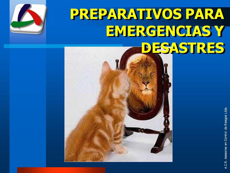 PREPARATIVOS PARA EMERGENCIAS Y DESASTRES