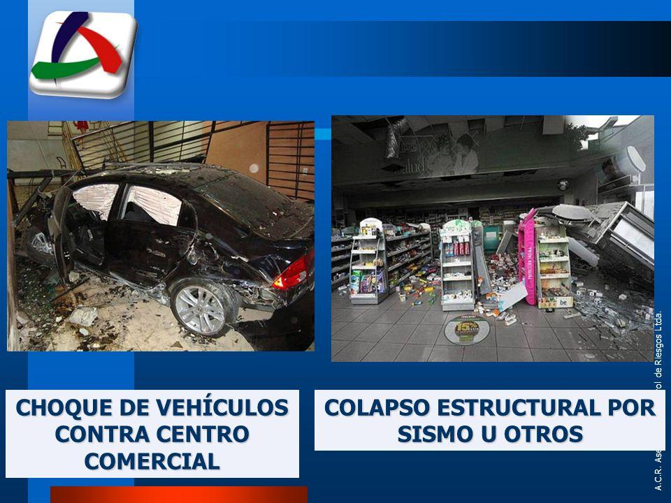 CHOQUE DE VEHÍCULOS CONTRA CENTRO COMERCIAL