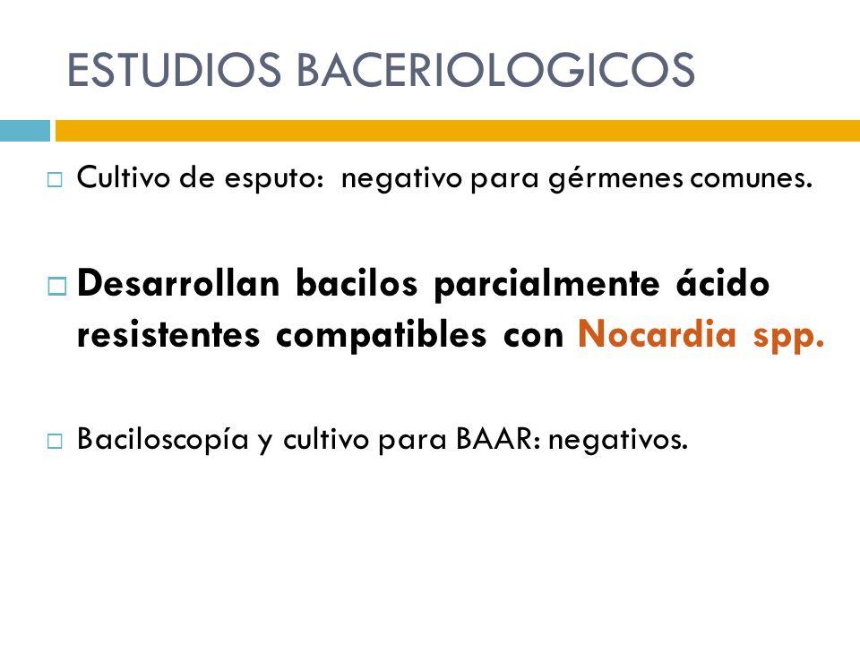 ESTUDIOS BACERIOLOGICOS