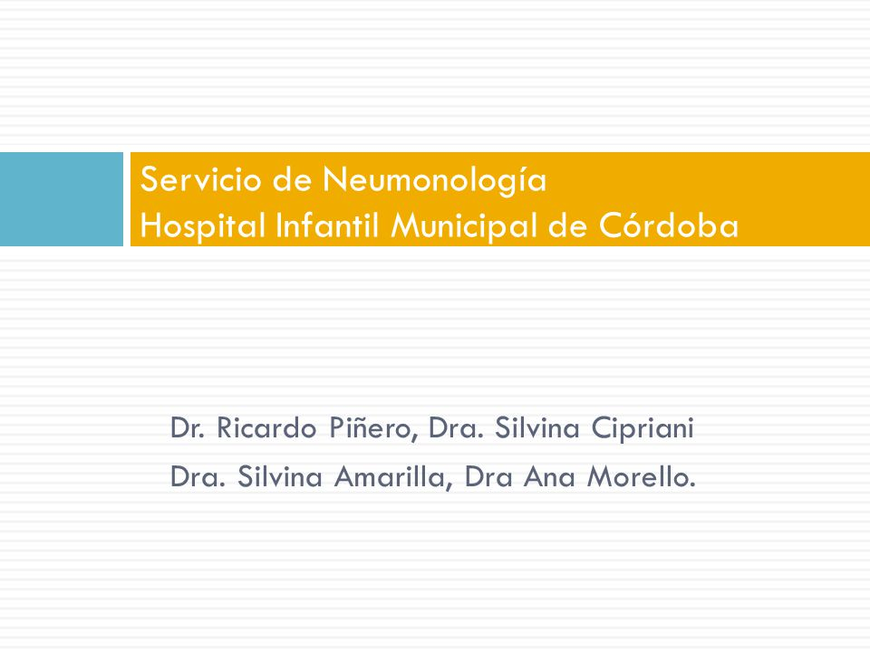 Servicio de Neumonología Hospital Infantil Municipal de Córdoba
