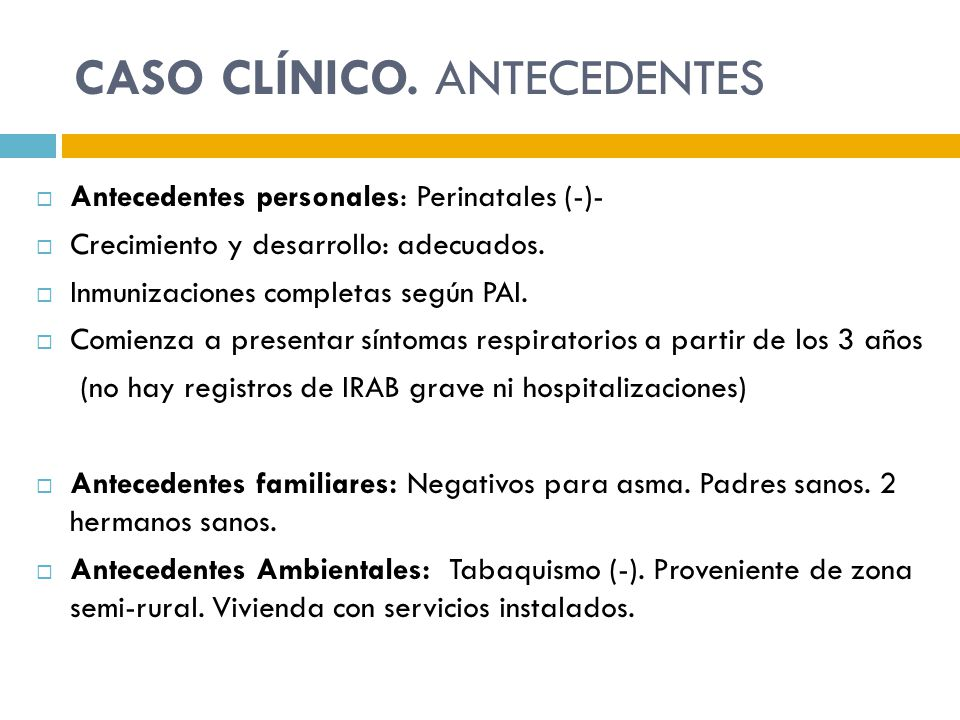 CASO CLÍNICO. ANTECEDENTES