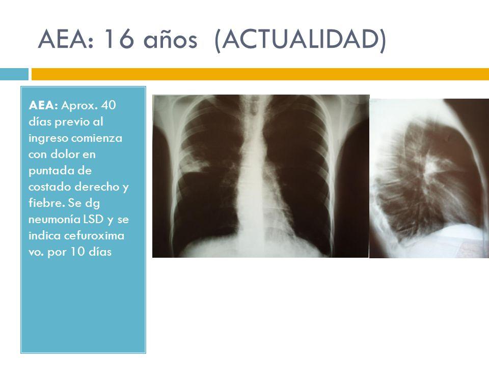 AEA: 16 años (ACTUALIDAD)