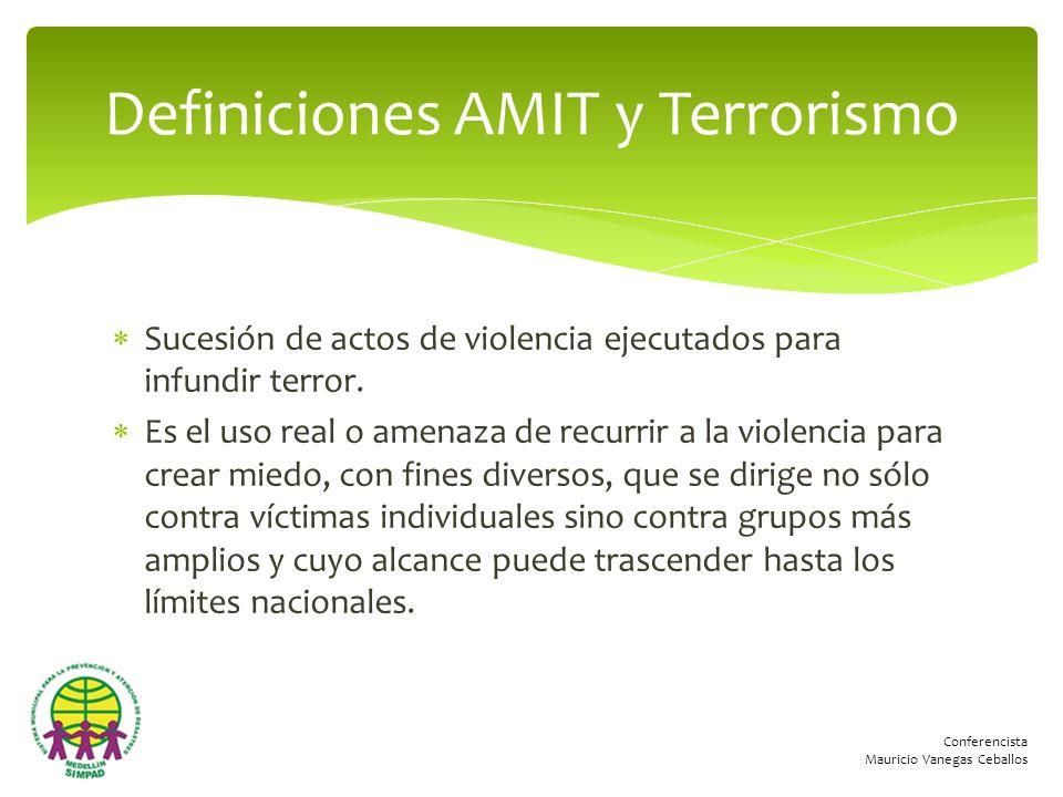 Definiciones AMIT y Terrorismo