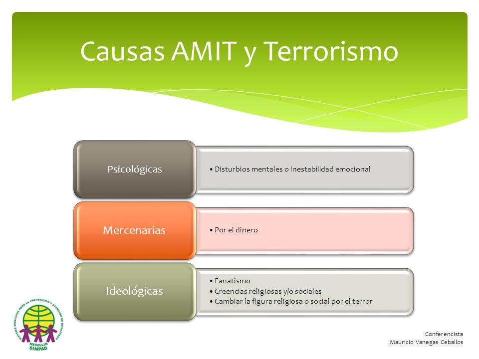Causas AMIT y Terrorismo