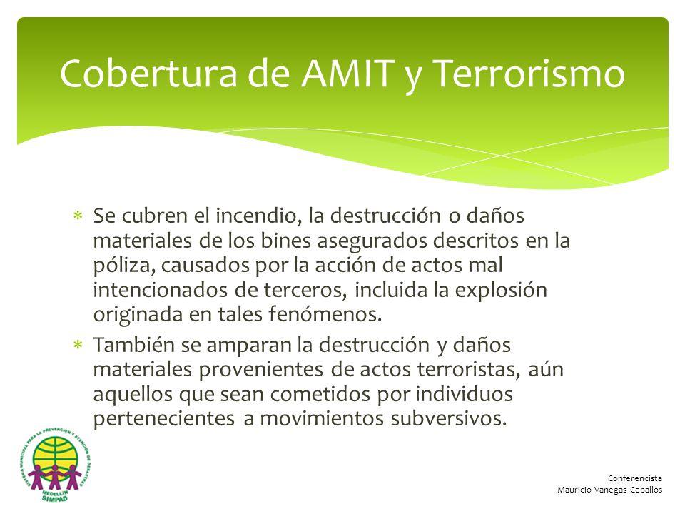 Cobertura de AMIT y Terrorismo