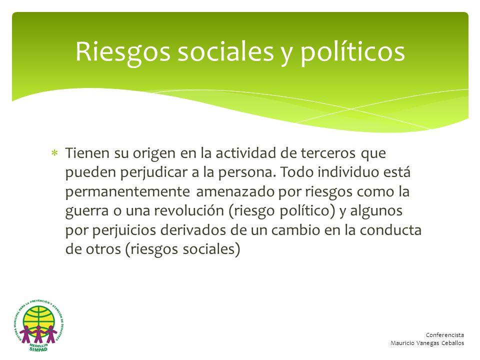 Riesgos sociales y políticos