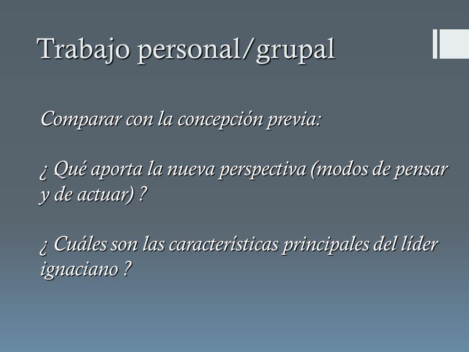Trabajo personal/grupal