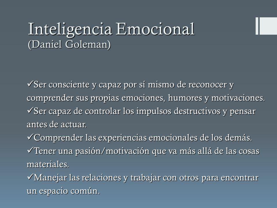 Inteligencia Emocional (Daniel Goleman)