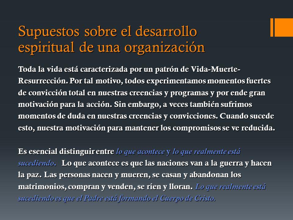 Supuestos sobre el desarrollo espiritual de una organización
