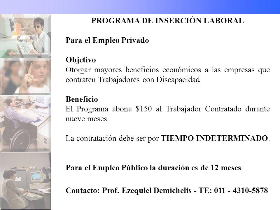 PROGRAMA DE INSERCIÓN LABORAL