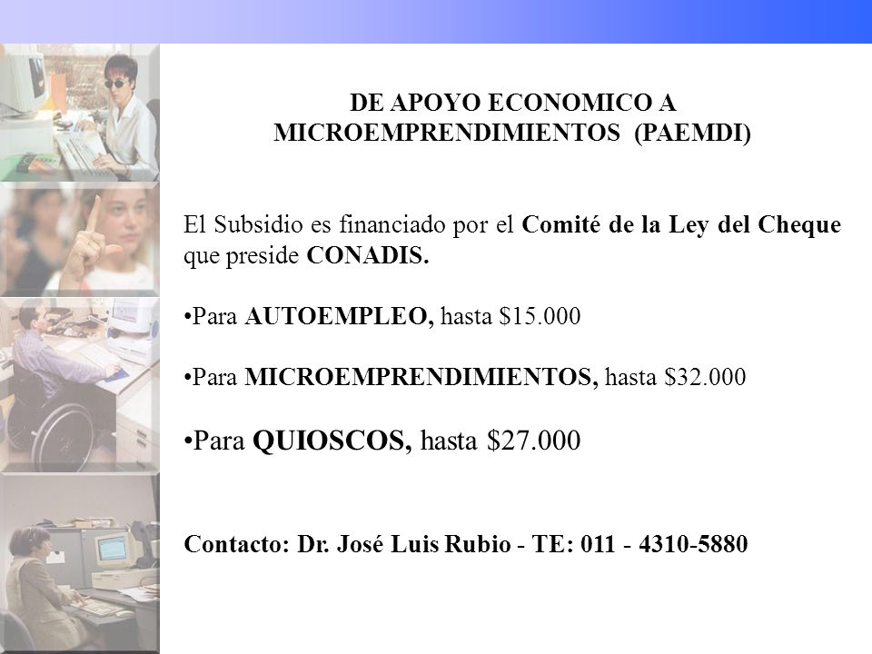 DE APOYO ECONOMICO A MICROEMPRENDIMIENTOS (PAEMDI)
