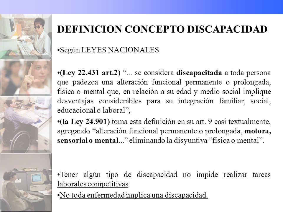 DEFINICION CONCEPTO DISCAPACIDAD