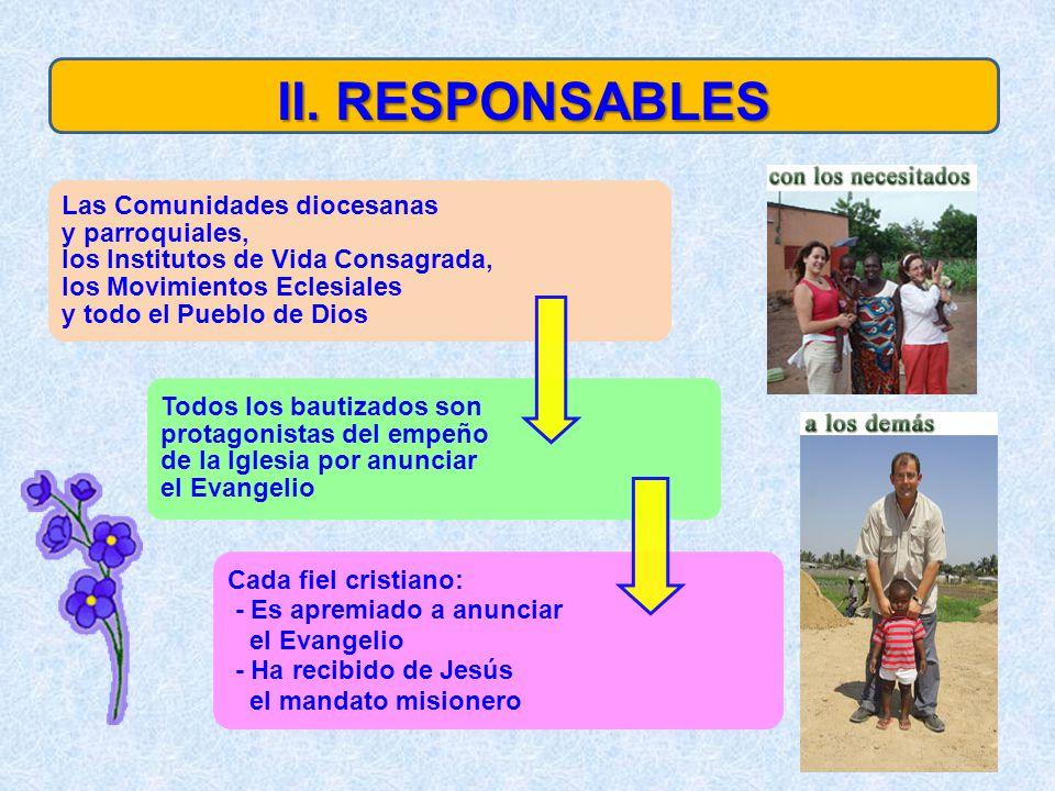 II. RESPONSABLES