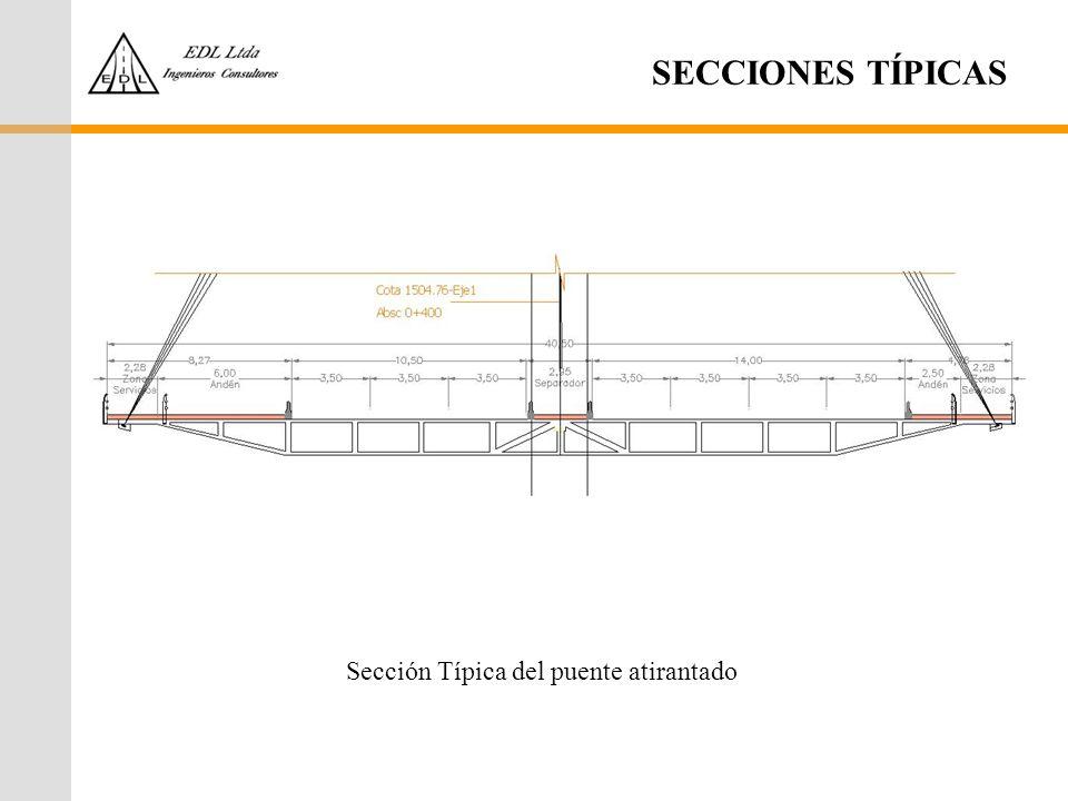 Sección Típica del puente atirantado
