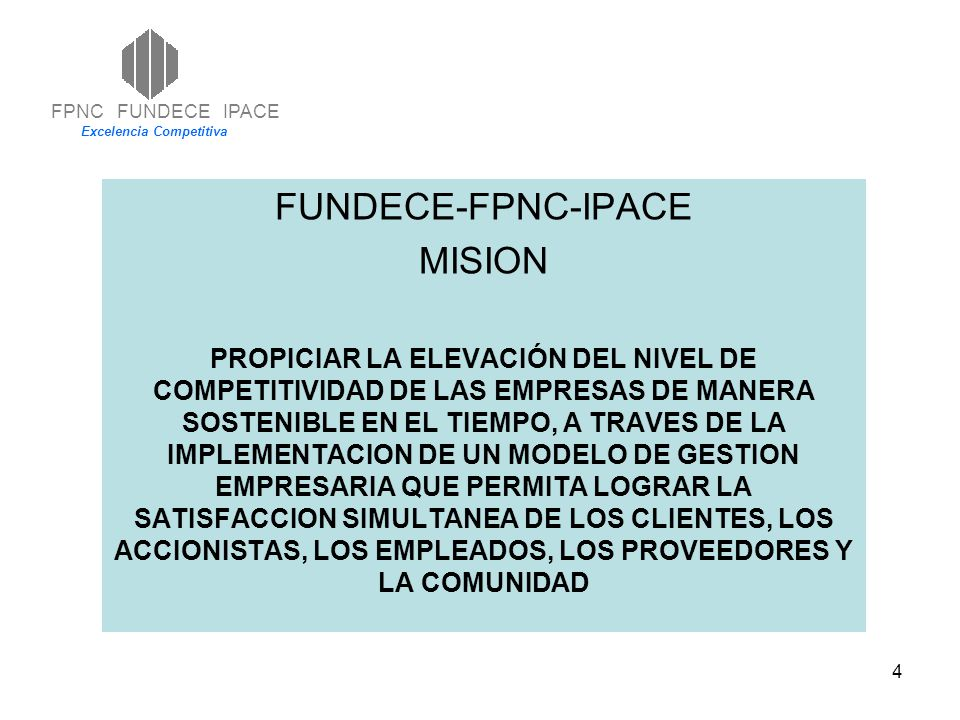 FUNDECE-FPNC-IPACE MISION