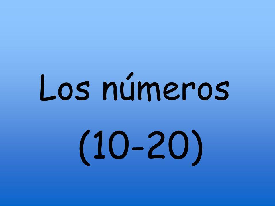 Los números (10-20)
