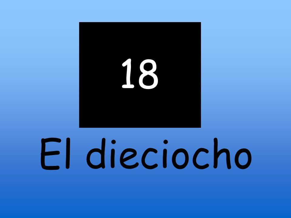 18 El dieciocho