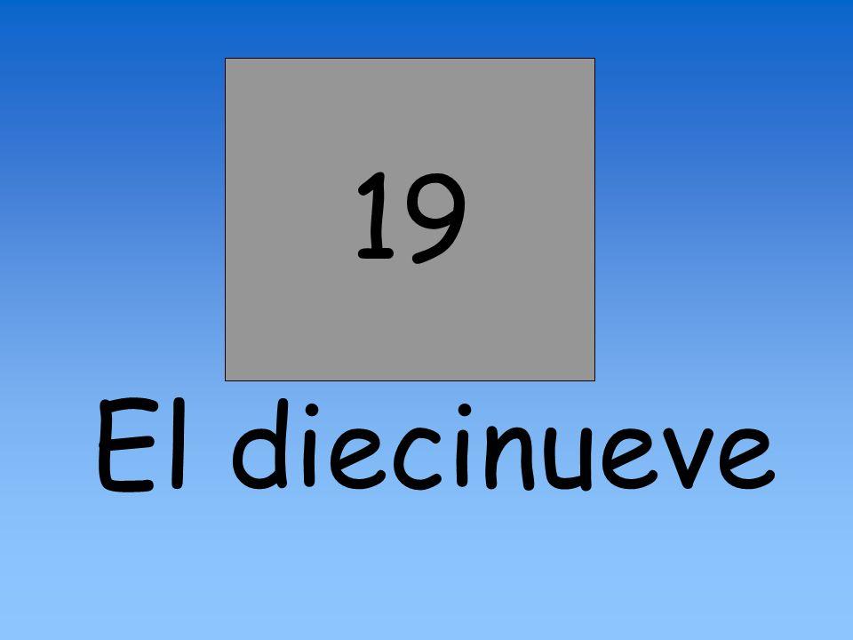 19 El diecinueve